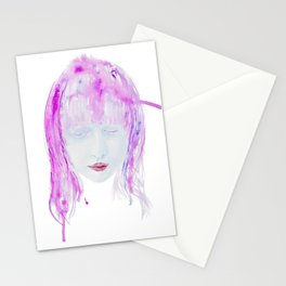 Eyes closed Stationery Cards