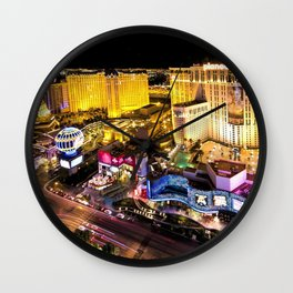 Las Vegas Nevada Skyline Wall Clock