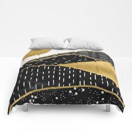 Gold Sun, digital surreal landscape Comforters
