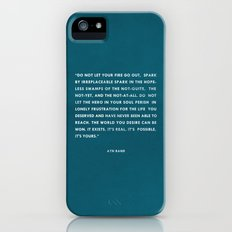 Do not let your fire go out Slim Case iPhone (5, 5s)