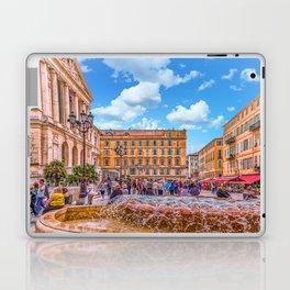 People in Nice Plaza with Fountain Laptop & iPad Skin