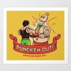 Punch'em Out Art Print