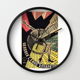 Man with a Movie Camera, vintage movie poster, 1929 Wall Clock