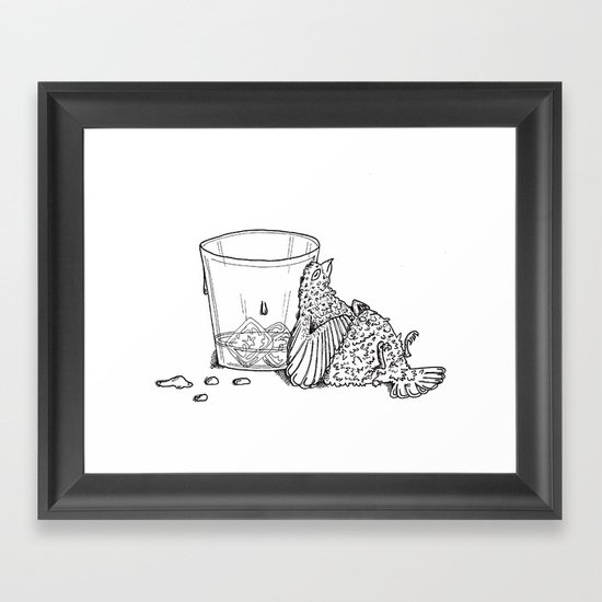 Thirsty Grouse Framed Art Print