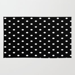 Black & White Polka Dots Rug