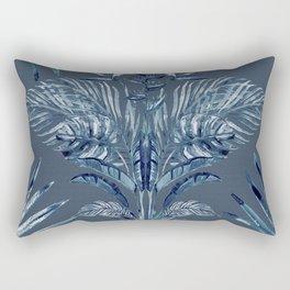 Indigo Batik Bohemian Palms Rectangular Pillow