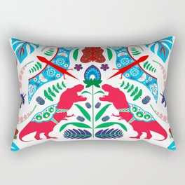 Jurassic Folk Rectangular Pillow