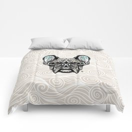 French Bulldog Smilling Comforters
