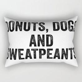 Donuts Dogs Sweatpants Rectangular Pillow