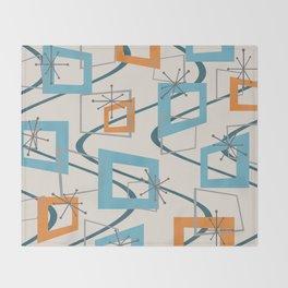 Mid Century Modern Minimalism Throw Blanket