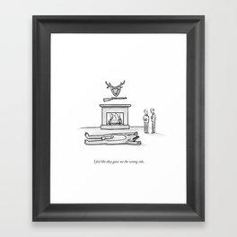 The Wrong Side Framed Art Print