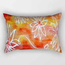 Luminescent Garden Rectangular Pillow