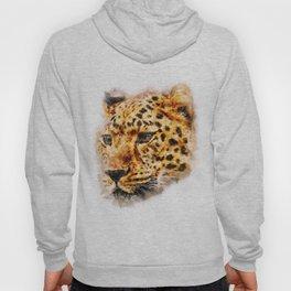 Cheetah Watercolor painting Art Hoody
