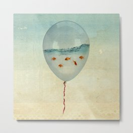 BALLOON FISH-2 Metal Print