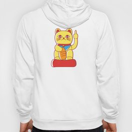 Middle Finger Mis-Fortune Cat Hoody