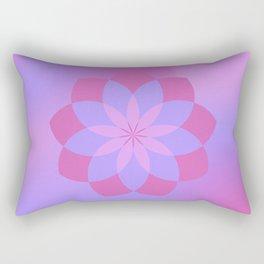 Pink and Purple Lotus Namaste Flower Rectangular Pillow