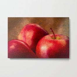Three Red Apples Metal Print