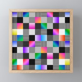 Mondrian Couture Framed Mini Art Print