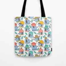 Pattern Project #38 / Dogs With Hats Tote Bag