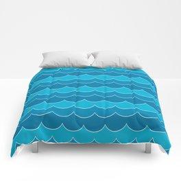 Sea wave pattern Comforters