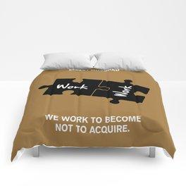 Lab No. 4 - Elbert Hubbard Work Motivational Quotes Poster Comforters
