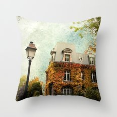 Autumnal Montmartre Throw Pillow