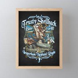 Trusty Shellback Bar & Grill Mermaid Framed Mini Art Print