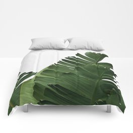 Minimal Banana Leaves Comforters