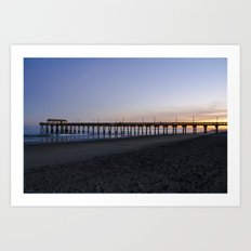 Sunset at Tybee Island Pier Art Print