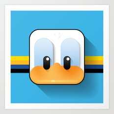 donald duck Art Print