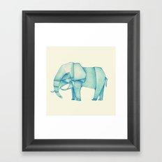 Paper Elephant Framed Art Print