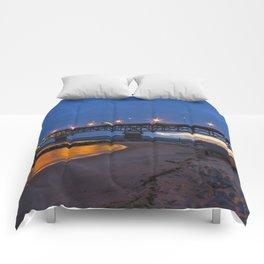 Coleman Bridge At Sunrise Comforters