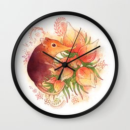 Pollinator Animals- Elephant Shrew Wall Clock