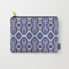 Portuguese Tiles Azulejos Blue White Pattern Carry-All Pouch