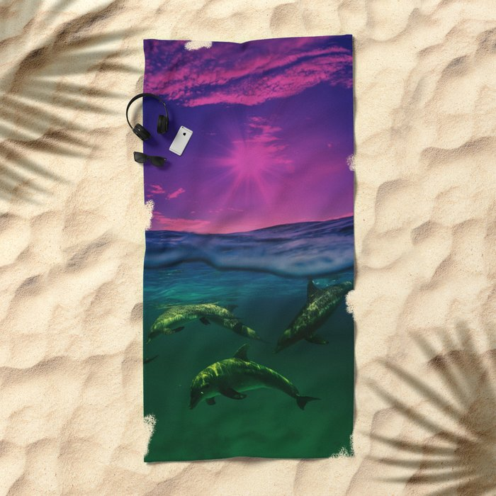 Dreaming Of Dolphins Beach Towel