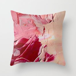 Blooming in Roses Throw Pillow