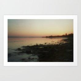 Sea through the pinhole camera Art Print