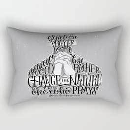 The Function Of Prayer Rectangular Pillow