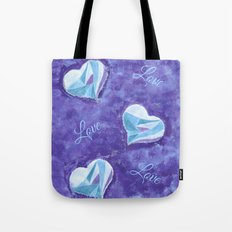 Blue hearts pattern Tote Bag