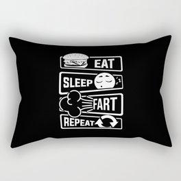 Eat Sleep Fart Repeat | Farting Flatulence Smell Rectangular Pillow