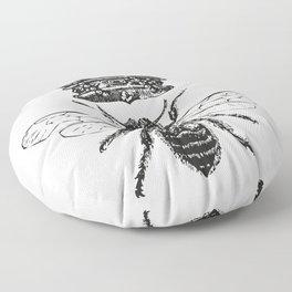 Queen Bee | Black and White Floor Pillow
