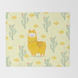 Alpaca summer Throw Blanket