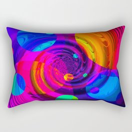 Re-Created Twisters No. 10 by Robert S. Lee Rectangular Pillow