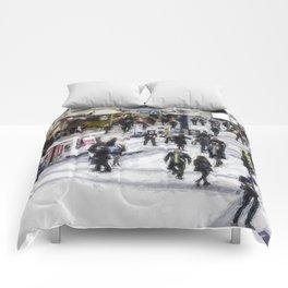 London Commuter Art Comforters