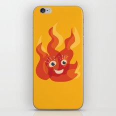 Happy Burning Cartoon Fire iPhone & iPod Skin