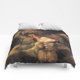SATURN DEVOURING HIS SON - GOYA Comforters
