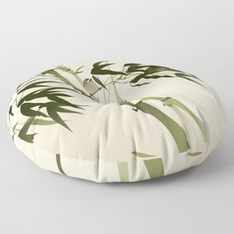 Oriental style painting, bamboo branches Floor Pillow