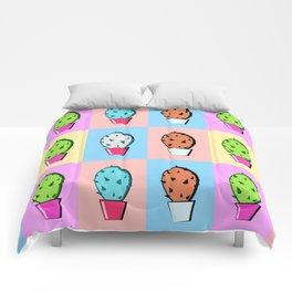 Colorful cartoon cactus pattern Comforters