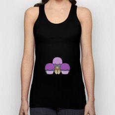 Cute Monster With Purple And Cyan Frosted Cupcakes Unisex Tank Top
