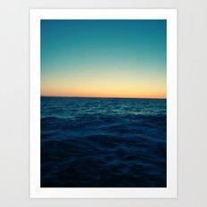 Ocean Skyline Art Print